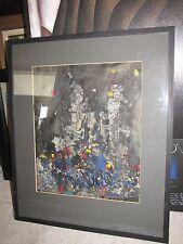 "*Gladys Goldstein* Original Watercolor Painting ""Night"" 13""x16"""