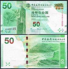 HONG KONG - BANK OF CHINA  50 DOLARES 2010 Pick -  SC  UNC