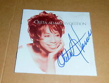"Oleta Adams *Soul, Get Here*, original sign: CD Cover ""Evolution"" mit CD, RAR"