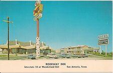 Rodeway Inn and Denny's Restaurant San Antonio TX Postcard