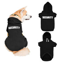 SECURITY Dog Coats Sweatshirt Pet Puppy Cat Clothes Hoodie Jacket French Bulldog