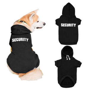 SECURITY Dog Coats Sweatshirt Pet Puppy Cat Clothes Hoodie Jacket French Bulldog
