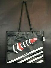 """SEPHORA Limited Edition LIPSTICK Shopping Bag Tote 11"""" Deep 13"""" wide Graphics"""