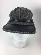 Grey Corduroy Retro Hipster Confederate Inspired Hat Cap Fast Free Shipping Rare