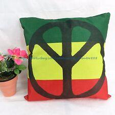 US SELLER - throw pillow cover Rasta reggae peace sign cushion cover