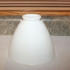 "Corning 6"" Milk Glass Waffle Torchiere Lamp  Shade"
