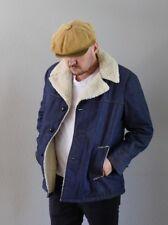 Vintage Raritan Sportswear Denim Faux Shearling Lined Chore Jacket Mens SZ L 42