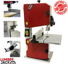 "Lumberjack 8"" Workshop Bandsaw Bench Top with Tilt Table Fitted Blade & Light"