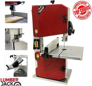 "Lumberjack 8"" Workshop Bandsaw Bench Top with Tilt Table Fitted Blade & Light"