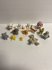 Miniature Animals Pets Doll House Display And Barbie Teddy Bear Lot Of 13