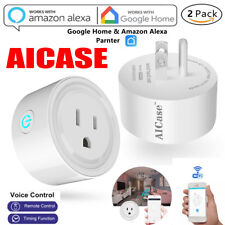 2X Smart Mini WiFi Plug Outlet Switch work with Echo Alexa Google Home Remote US