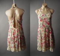 Romantic Vtg-y Rose Floral Print Garden Tea Party Strappy Sun 224 mv Dress S M L