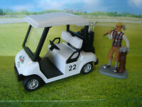 G-scale Golf Cart With 8 Golf Clubs, Rubber Tires LGB Size NEW