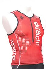 Panache skratch LABS Sleeveless Triathlon Race Singlet Men MEDIUM Red Tri Top