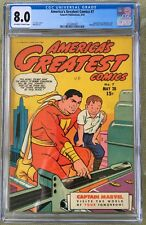 America's Greatest Comics #7 (1943) CGC 8.0 -- O/W to White pages Captain Marvel