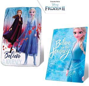 Disney Frozen 2 Character Girls Kids Polar Blanket Throw Warm Fluffy Fleece