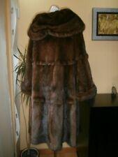Genuine NERZ MINK НОРКА fur coat , color bitter chocolate .