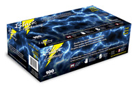 Atlantic Safety Products Black Lightning Powder Free Nitrile Gloves (Box of 100)