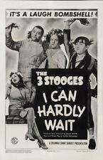 "The Three Stooges in I Can Hardly Wait Movie Poster Replica 13x19"" Photo Print"