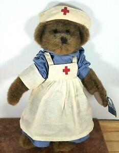 "Ganz H3758 Caren The Nurse 14"" Jointed Plush Teddy Bear Brown 2000"