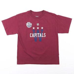 REEBOK NHL Winter Classics Maroon Sports Short Sleeve T-Shirt Boys XL