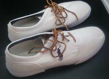 Polo Ralph Lauren White Canvas Deck Boat Shoes Sneakers Size 16 D