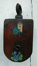 """Antique Wood Block & Tackle Pulley Wood Sheave 10"""""""