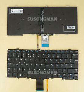 NEW for DELL Latitude 5280 5288 5289 7280 Keyboard Backlit No Frame Black UK