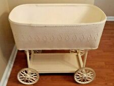 Vintage Baby Bassinet Cradle Bed - Wicker & Wood - Pick Up Only