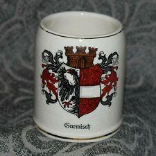 "New listing Vintage German Porcelain Handpainted Beer Stein A.Wilhelm Garmisch Germany 4.5""t"