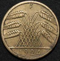 1924 F | Germany 10 Reichspfennig | Coins | KM Coins