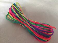 3Mx2mm Satin Jewellery Rope Cord DIY Nylon Necklace Child Safe String RAINBOW