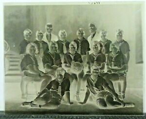 Very Rare Vintage 8x10 Basketball Glass Negative 1929-1930