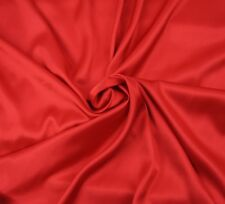 "QUALITY silky charmeuse Satin SOFT red Pantie Lingerie Fabric 60"" BTY"
