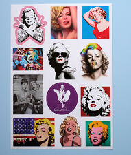 Marilyn Monroe Pop Art Pin Up Vintage Sexy Retro suitcase Decal luggage Stickers