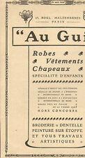 PARIS MALHERBES MAGASIN VETEMENTS AU GUI PUBLICITE 1907