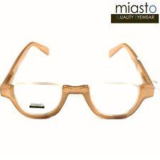 fd78b31c6b7d MIASTO TOP RIMLESS HALF RIM MOON OVAL READER READING GLASSES+1.50  CARAMEL~MEDIUM