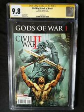 CIVIL WAR II GODS OF WAR #1 REGULAR COVER CGC SS 9.8 SIGNED BY JAY ANACLETO