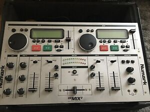 Numark CD Mix 2 Professional Mixer With Cables and Carry Case Good Working Order