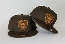 New Era Brown Oakland Raiders Shield Wheat Logo 9Fifty Snapback Hat