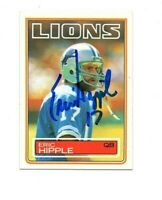 Eric Hipple 1983 Topps signed autograph football card Detroit Lions Utah State c