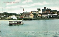 A View Of The Waterfront, Steamer, Brewer, Maine ME 1909