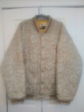 VNTG Raw Blue Classics First Team Baseball Quilted Bomber Jacket 2XL