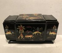 Oriental Lacquer Box For Cigarettes ? Paints ? Makeup? Jewelry? What Ever