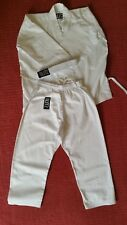 Blitz Kids Karate Gi Suit White Polycotton 130cm