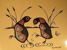 Original 1981 Acrylic Painting by Sandy Lake Ojibway Artist Robert Kakegamic