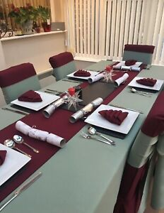 Dining Set Rectangle Fabric TABLE CLOTH / COVER & 6 Napkins 38x 38cms