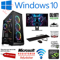 "GAMING PC SET 22"" Full HD i7 240GB SSD +1TB 16GB 4 GB GTX 1650 WINDOWS 10 WIFI"
