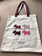 Radley Folder Up Shopper Tote Cotton Canvas Bag - Cream - Dark/Red Scottie Dogs