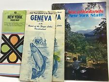 Vintage 1970 New York City and State Travel Guides and Road Maps Lot of 4